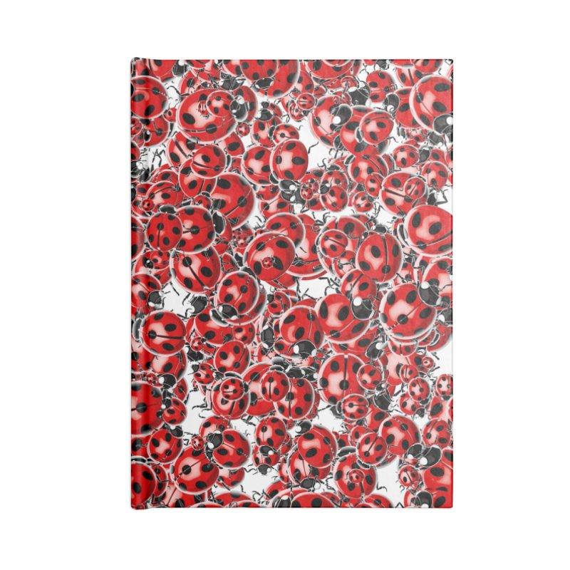 Ladybug Love Accessories Lined Journal Notebook by Grandio Design Artist Shop
