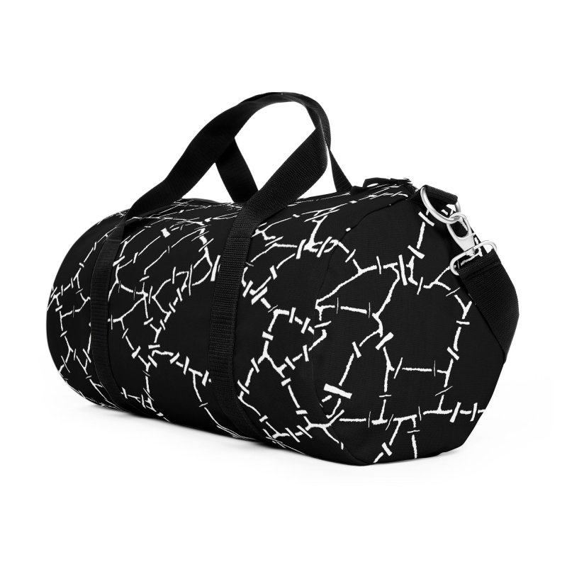 Undead Zombie Stitch Voodoo Halloween Pattern Accessories Duffel Bag Bag by Grandio Design Artist Shop