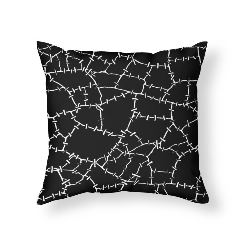 Undead Zombie Stitch Voodoo Halloween Pattern Home Throw Pillow by Grandio Design Artist Shop
