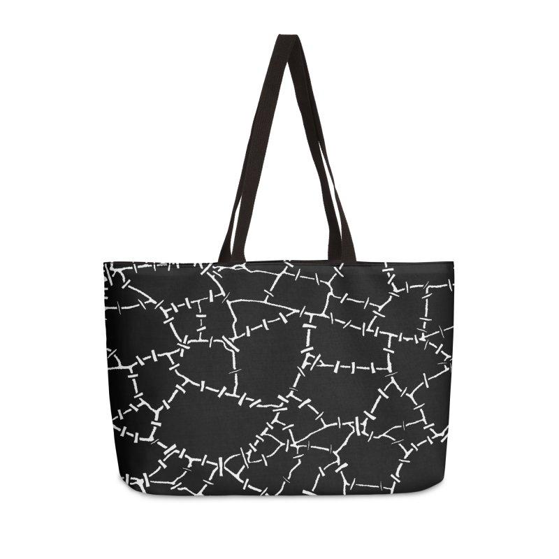 Undead Zombie Stitch Voodoo Halloween Pattern Accessories Weekender Bag Bag by Grandio Design Artist Shop
