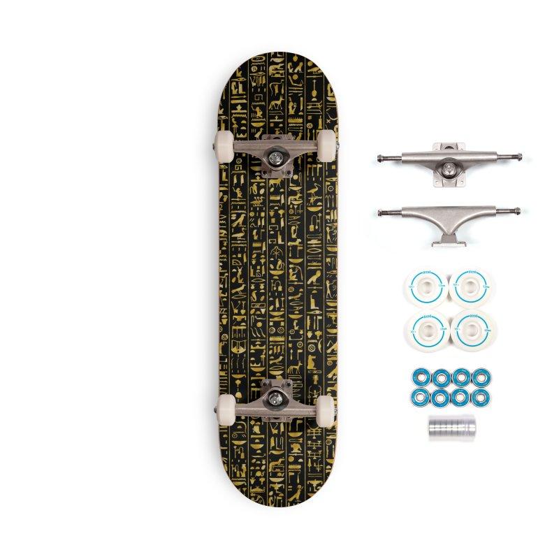Hieroglyphics GOLD Accessories Complete - Basic Skateboard by Grandio Design Artist Shop