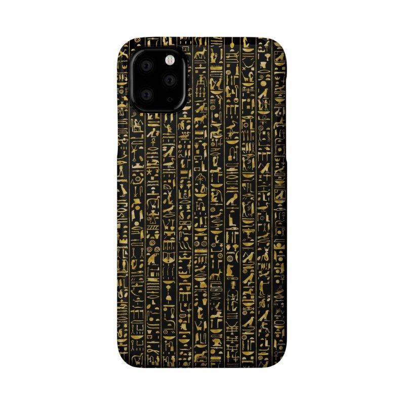 Hieroglyphics GOLD Accessories Phone Case by Grandio Design Artist Shop