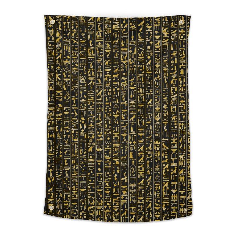 Hieroglyphics GOLD Home Tapestry by Grandio Design Artist Shop