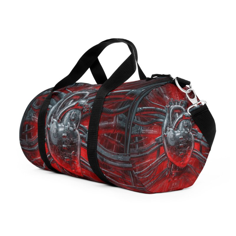 Heart Of The Gamer Accessories Duffel Bag Bag by Grandio Design Artist Shop