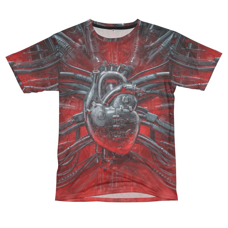 Heart Of The Gamer Women's Unisex French Terry T-Shirt Cut & Sew by Grandio Design Artist Shop