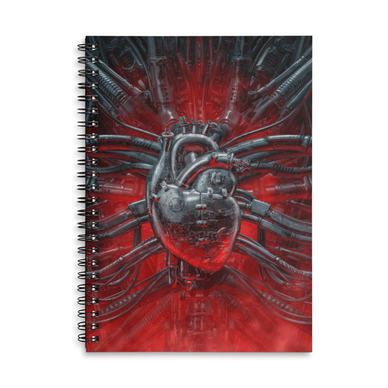 Heart Of The Gamer Accessories Lined Spiral Notebook by Grandio Design Artist Shop