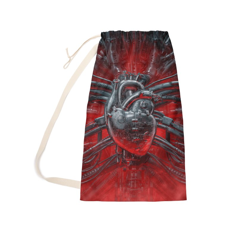Heart Of The Gamer Accessories Laundry Bag Bag by Grandio Design Artist Shop