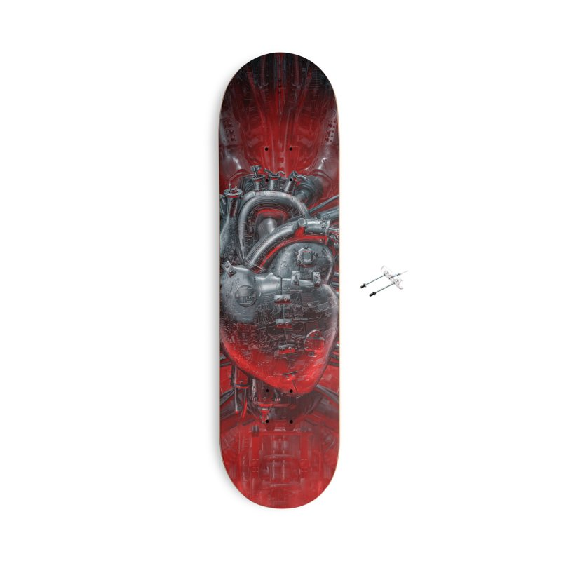 Heart Of The Gamer Accessories With Hanging Hardware Skateboard by Grandio Design Artist Shop