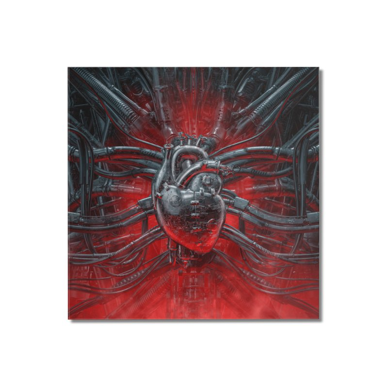 Heart Of The Gamer Home Mounted Acrylic Print by Grandio Design Artist Shop