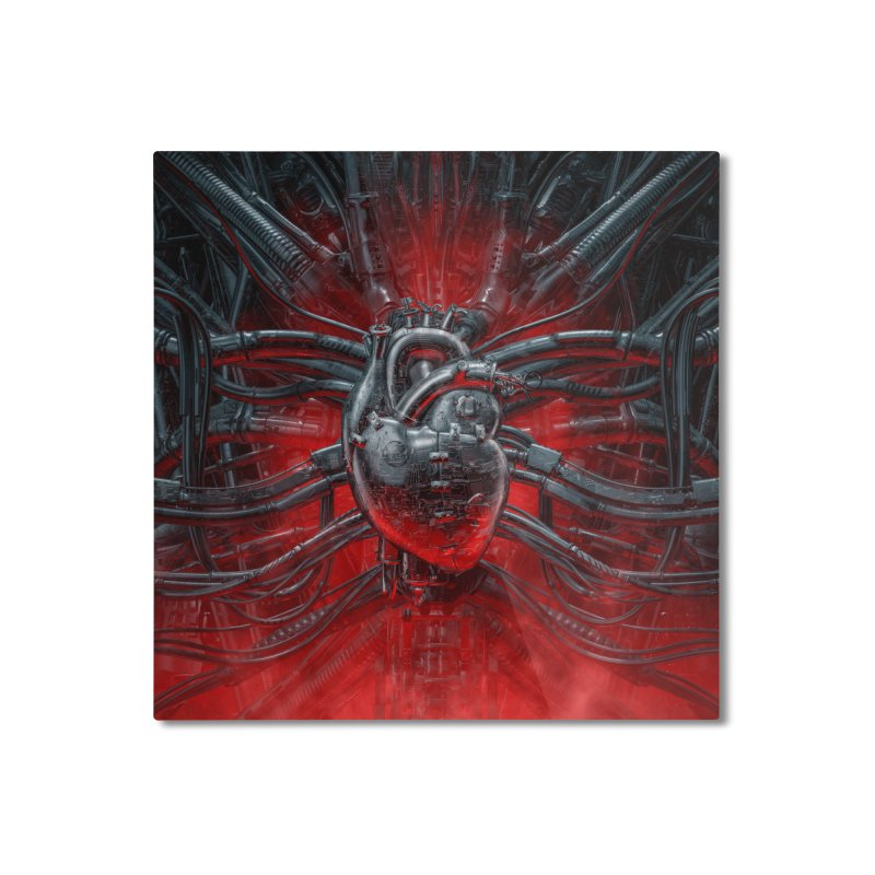 Heart Of The Gamer Home Mounted Aluminum Print by Grandio Design Artist Shop