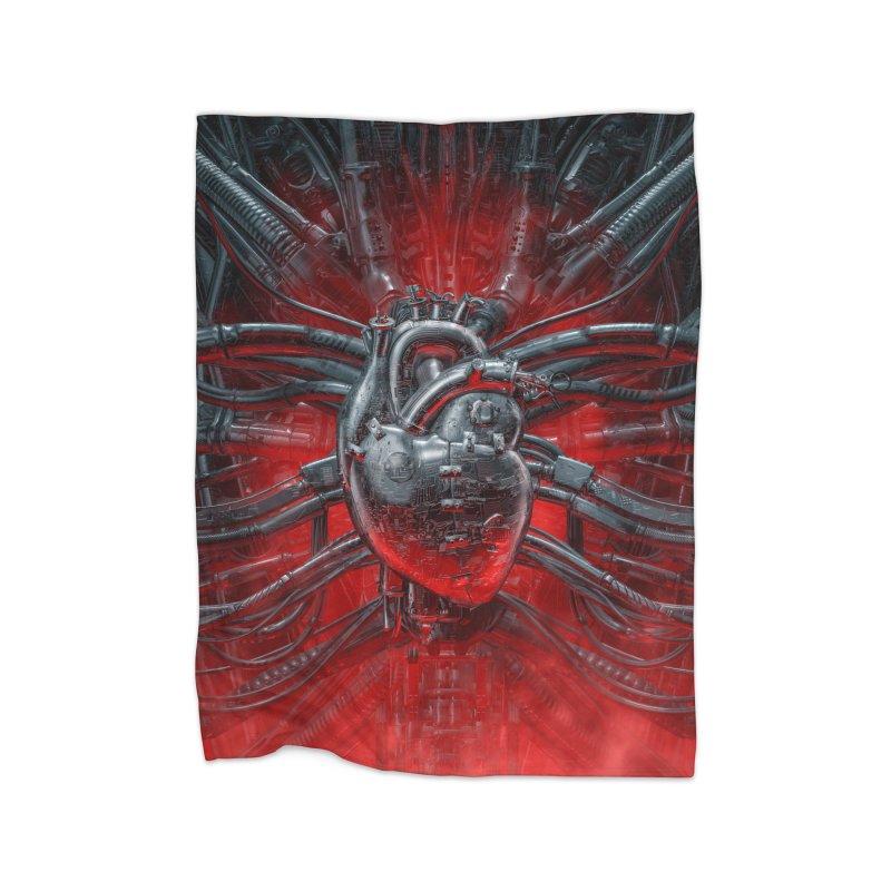 Heart Of The Gamer Home Fleece Blanket Blanket by Grandio Design Artist Shop