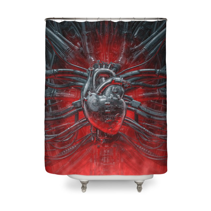 Heart Of The Gamer Home Shower Curtain by Grandio Design Artist Shop
