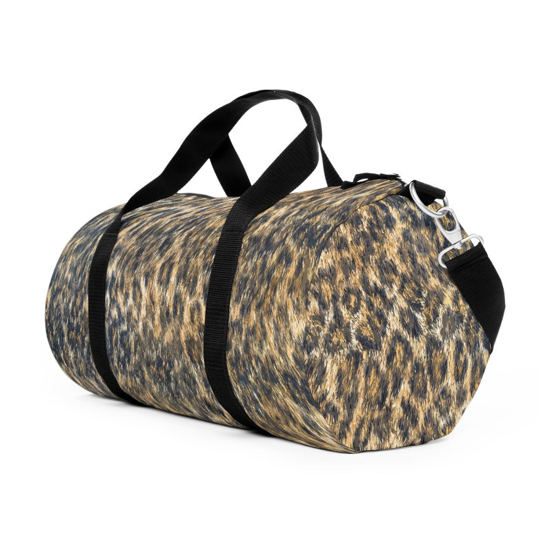 Leopard Cheetah Fur Wildlife Print Pattern Accessories Duffel Bag Bag by Grandio Design Artist Shop