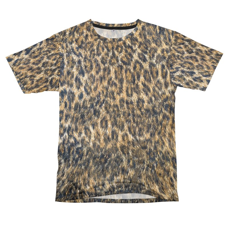 Leopard Cheetah Fur Wildlife Print Pattern Men's T-Shirt Cut & Sew by Grandio Design Artist Shop