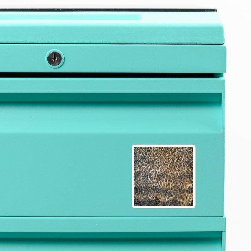 Leopard Cheetah Fur Wildlife Print Pattern Accessories Magnet by Grandio Design Artist Shop
