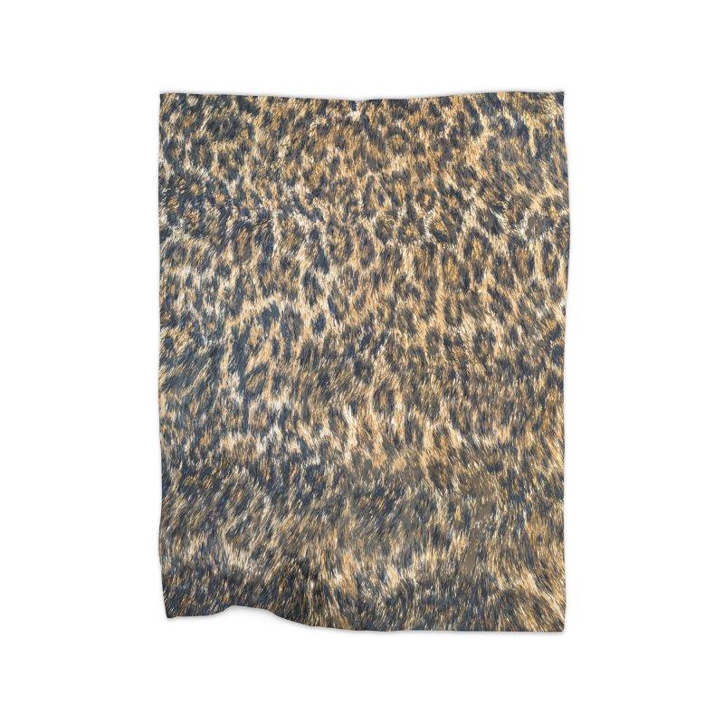 Leopard Cheetah Fur Wildlife Print Pattern Home Fleece Blanket Blanket by Grandio Design Artist Shop