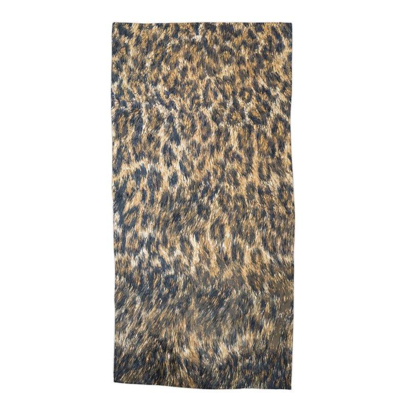 Leopard Cheetah Fur Wildlife Print Pattern Accessories Beach Towel by Grandio Design Artist Shop