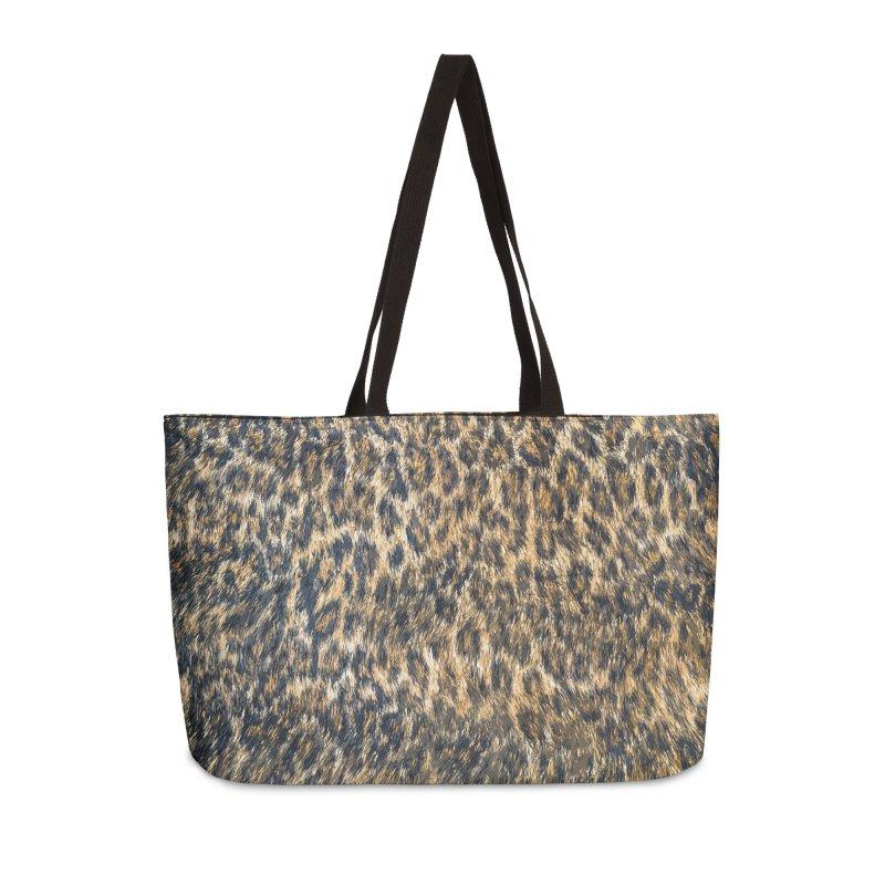 Leopard Cheetah Fur Wildlife Print Pattern Accessories Weekender Bag Bag by Grandio Design Artist Shop
