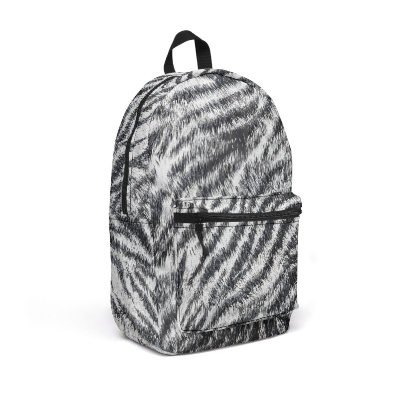 White Bengal Tiger Fur Wildlife Print Pattern Accessories Backpack Bag by Grandio Design Artist Shop