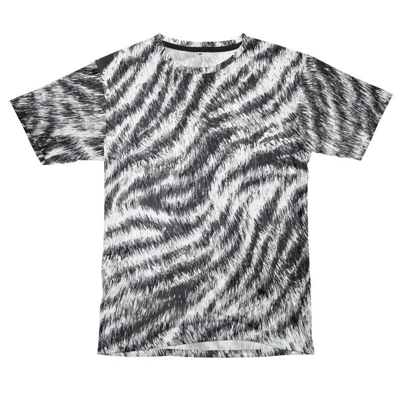 White Bengal Tiger Fur Wildlife Print Pattern Men's T-Shirt Cut & Sew by Grandio Design Artist Shop