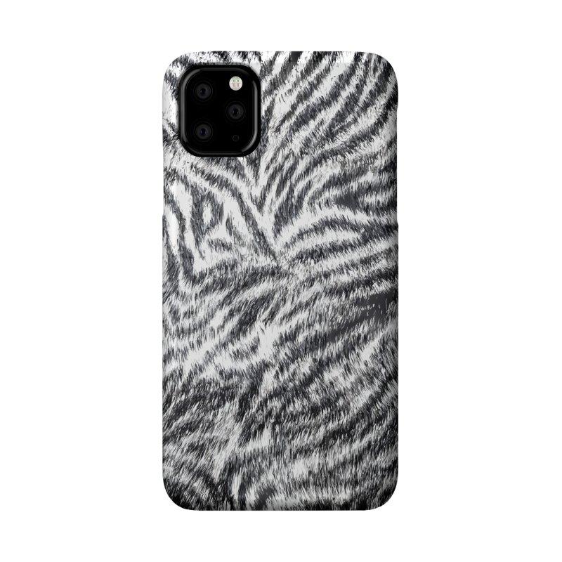 White Bengal Tiger Fur Wildlife Print Pattern Accessories Phone Case by Grandio Design Artist Shop