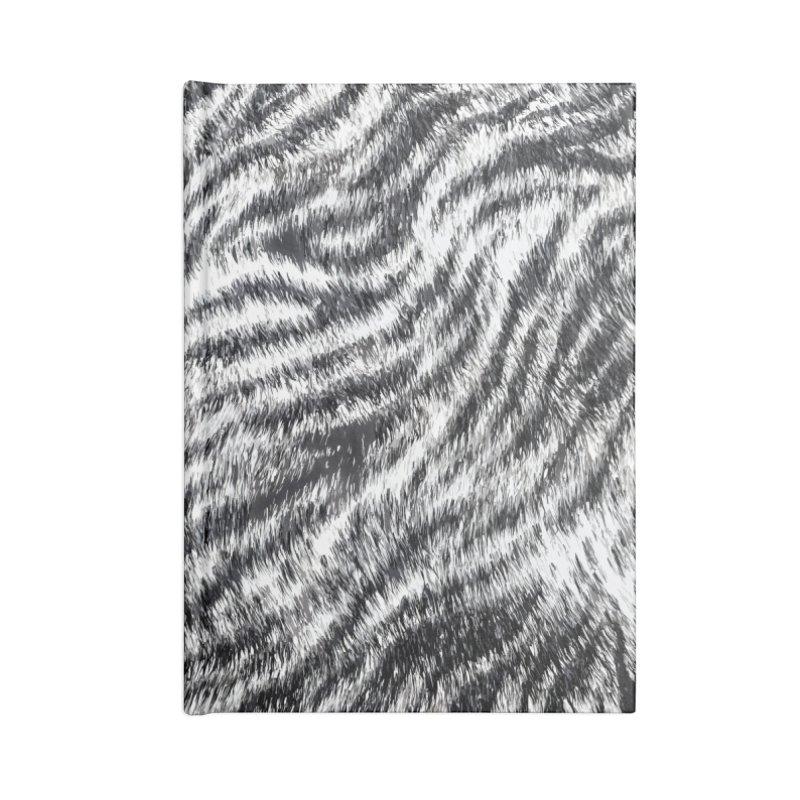 White Bengal Tiger Fur Wildlife Print Pattern Accessories Blank Journal Notebook by Grandio Design Artist Shop