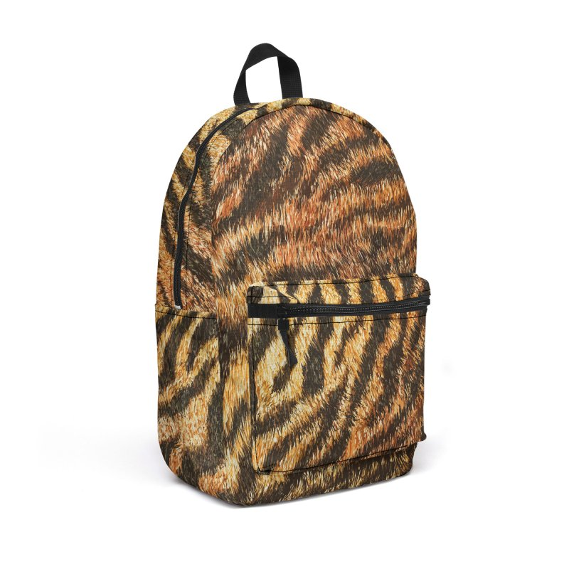 Bengal Tiger Fur Wildlife Print Pattern Accessories Backpack Bag by Grandio Design Artist Shop