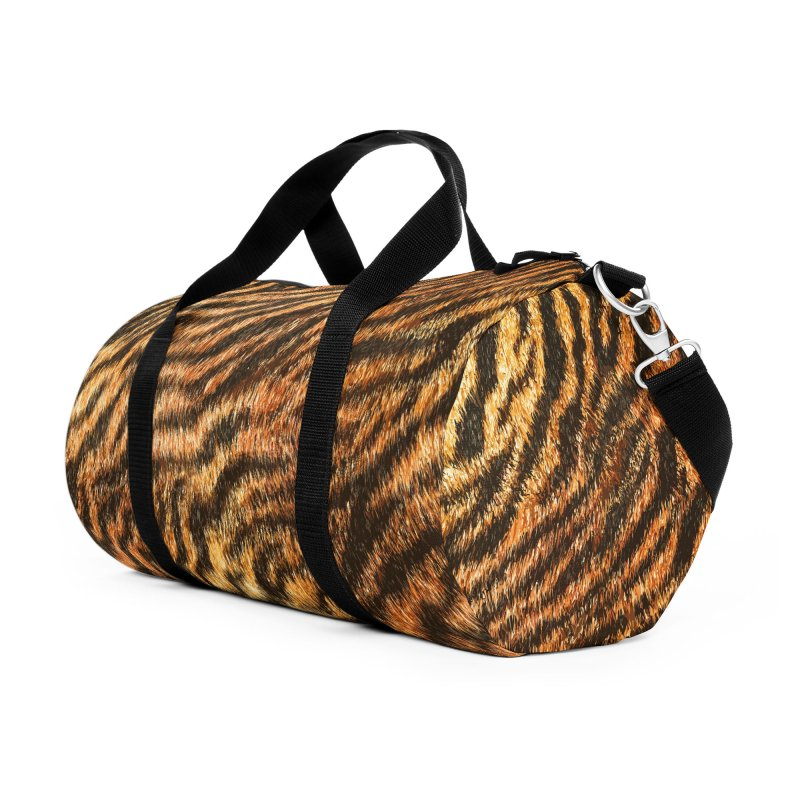 Bengal Tiger Fur Wildlife Print Pattern Accessories Duffel Bag Bag by Grandio Design Artist Shop