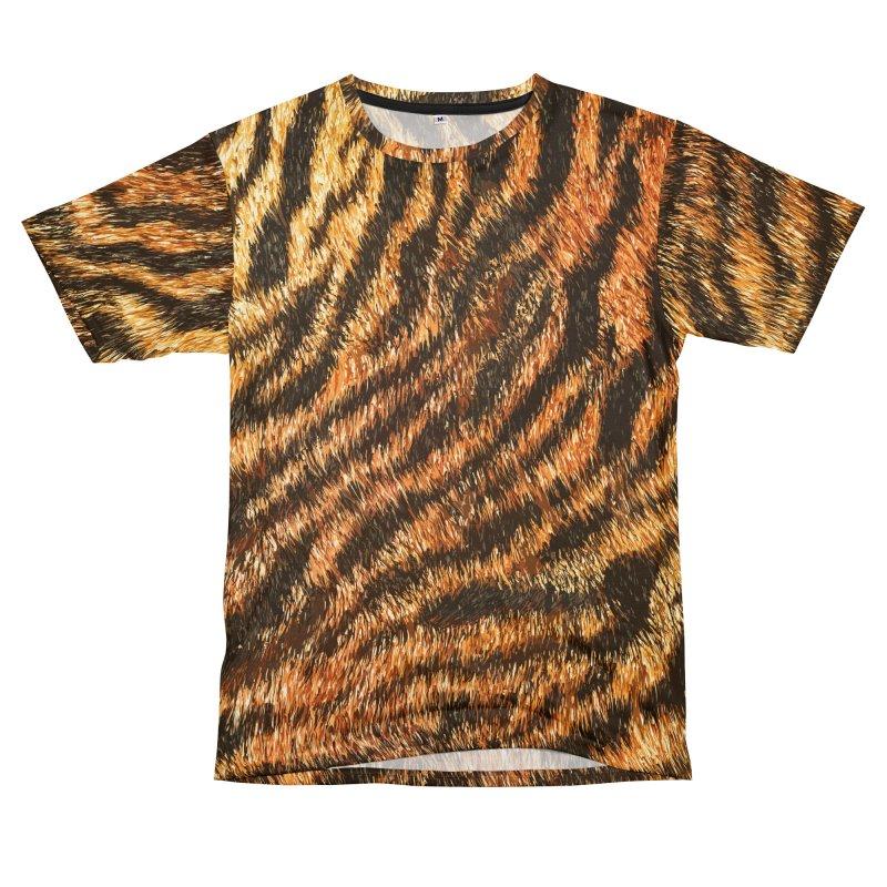 Bengal Tiger Fur Wildlife Print Pattern Men's T-Shirt Cut & Sew by Grandio Design Artist Shop