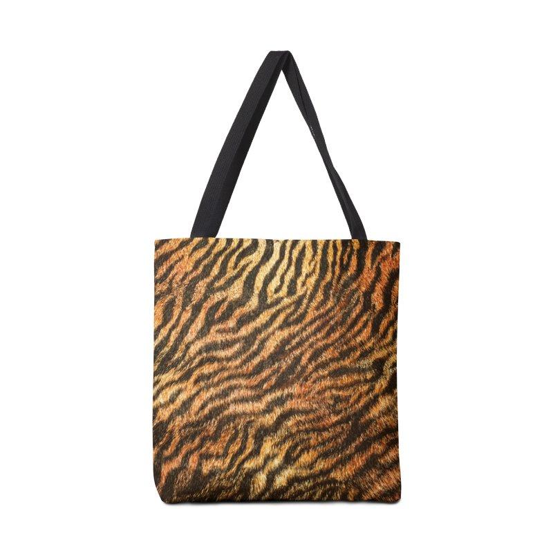 Bengal Tiger Fur Wildlife Print Pattern Accessories Tote Bag Bag by Grandio Design Artist Shop