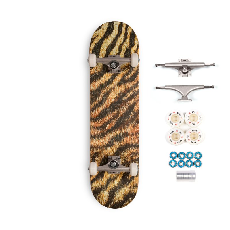 Bengal Tiger Fur Wildlife Print Pattern Accessories Complete - Premium Skateboard by Grandio Design Artist Shop