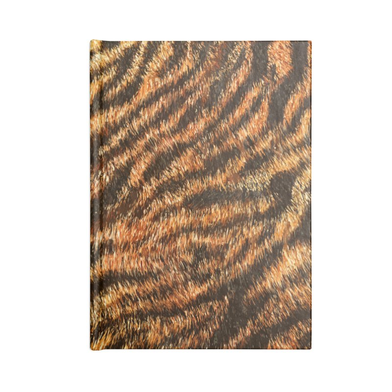 Bengal Tiger Fur Wildlife Print Pattern Accessories Lined Journal Notebook by Grandio Design Artist Shop