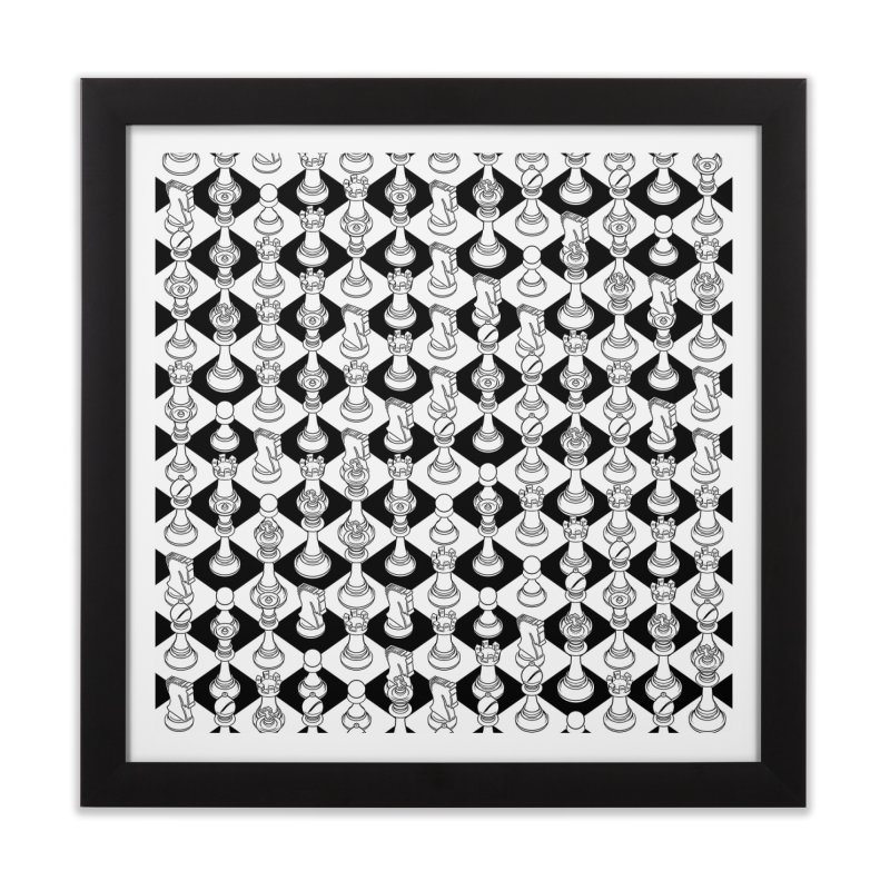 Isometric Chess WHITE Home Framed Fine Art Print by Grandio Design Artist Shop