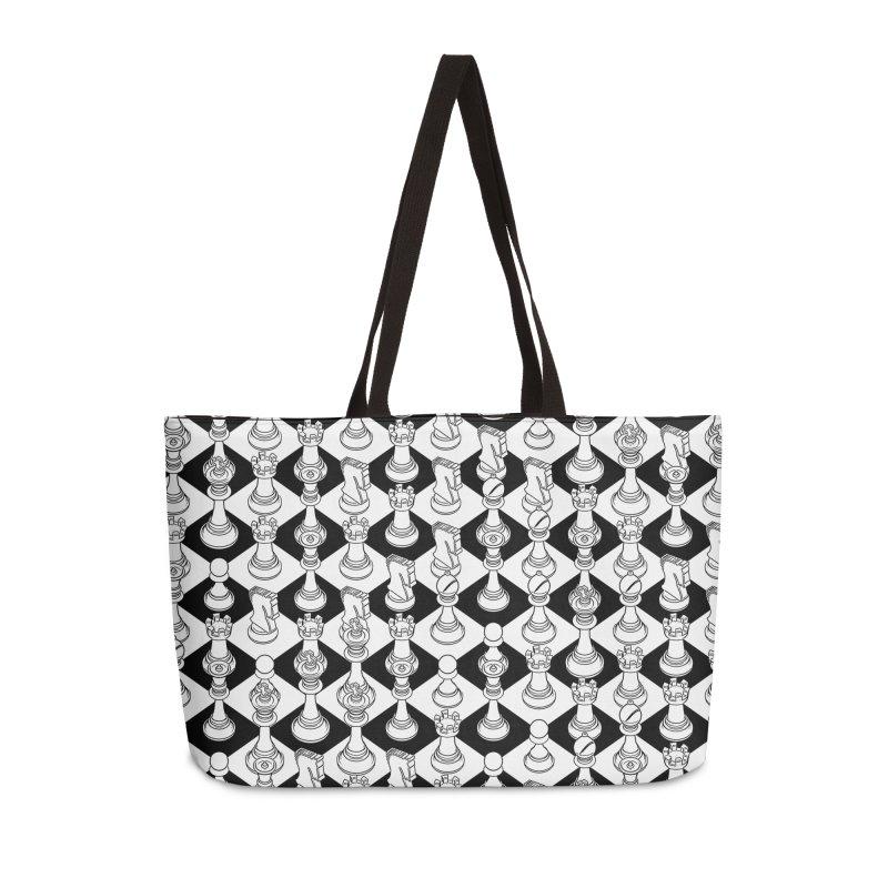 Isometric Chess WHITE Accessories Weekender Bag Bag by Grandio Design Artist Shop