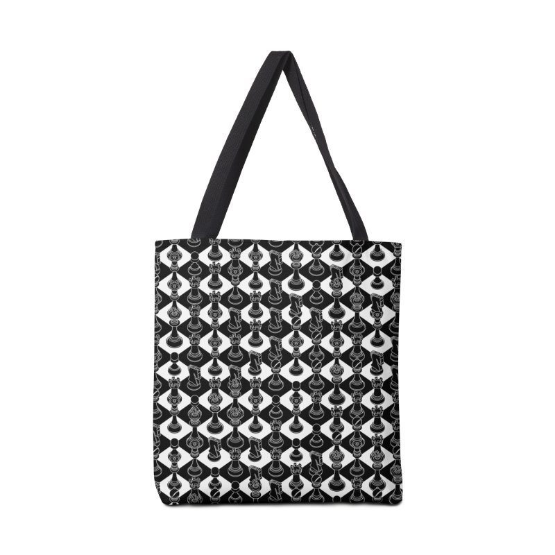 Isometric Chess BLACK Accessories Tote Bag Bag by Grandio Design Artist Shop