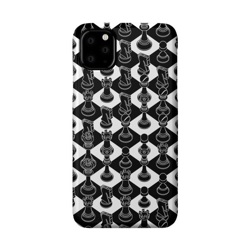 Isometric Chess BLACK Accessories Phone Case by Grandio Design Artist Shop