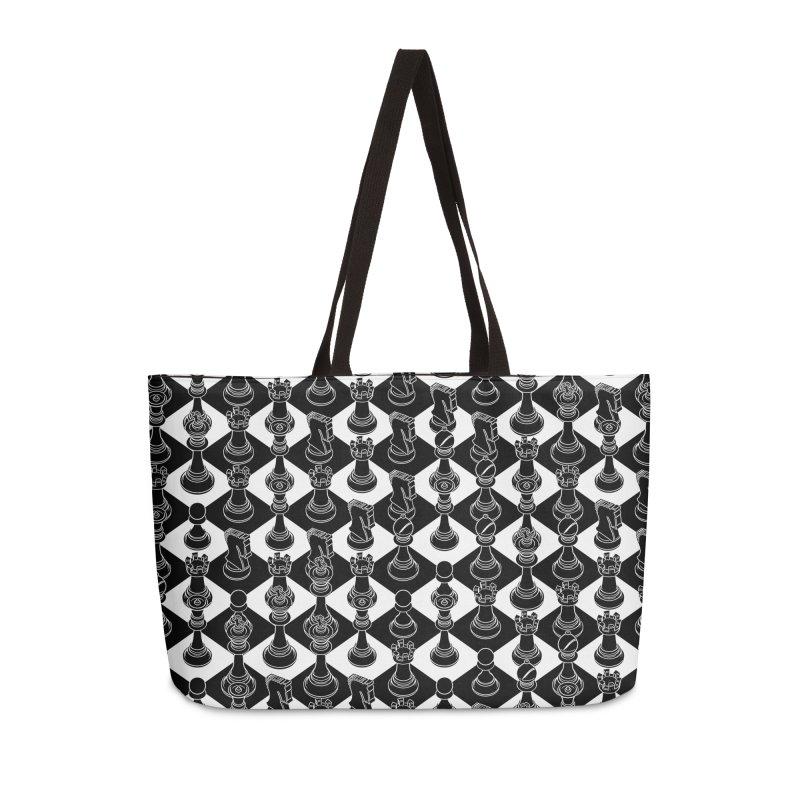 Isometric Chess BLACK Accessories Weekender Bag Bag by Grandio Design Artist Shop
