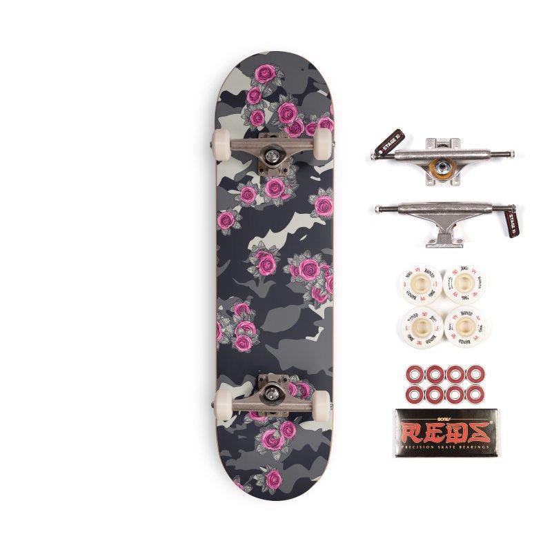 Roses Pink Camo URBAN VINTAGE Accessories Complete - Pro Skateboard by Grandio Design Artist Shop