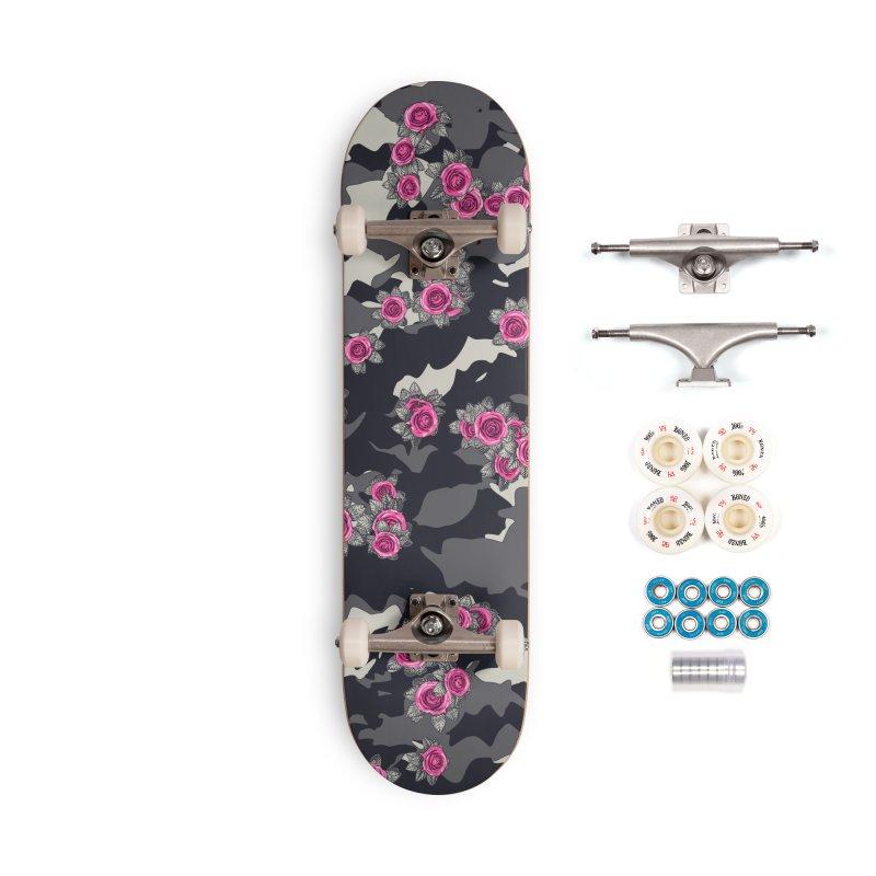 Roses Pink Camo URBAN VINTAGE Accessories Complete - Premium Skateboard by Grandio Design Artist Shop