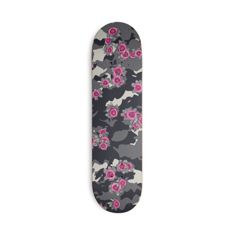 Roses Pink Camo URBAN VINTAGE Accessories Deck Only Skateboard by Grandio Design Artist Shop