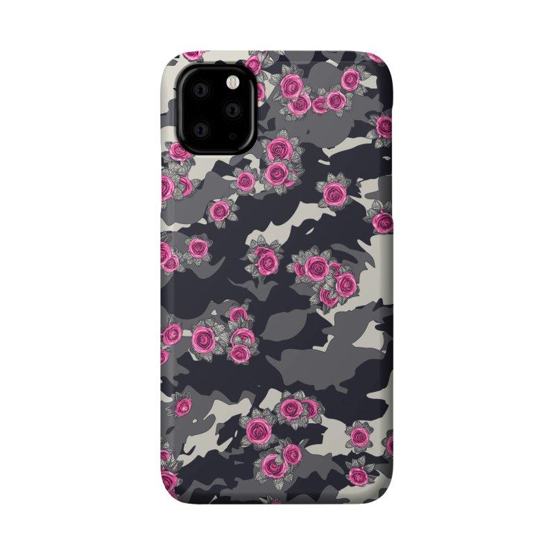 Roses Pink Camo URBAN VINTAGE Accessories Phone Case by Grandio Design Artist Shop