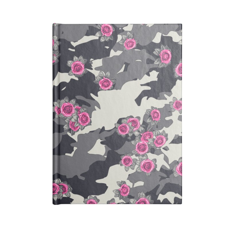 Roses Pink Camo URBAN VINTAGE Accessories Lined Journal Notebook by Grandio Design Artist Shop