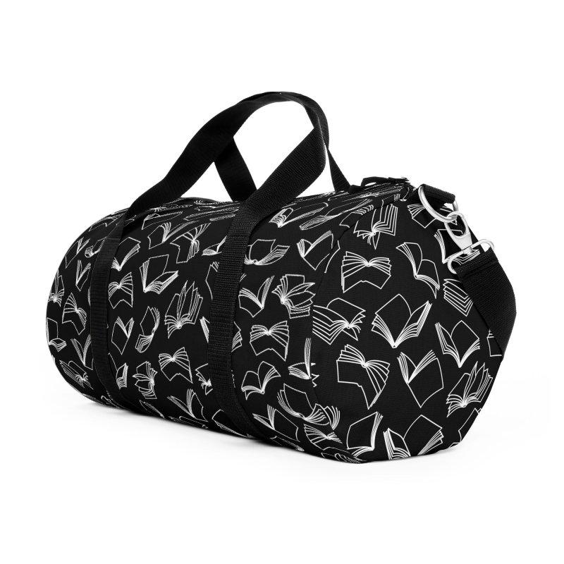Bookaholic Dreams Accessories Duffel Bag Bag by Grandio Design Artist Shop