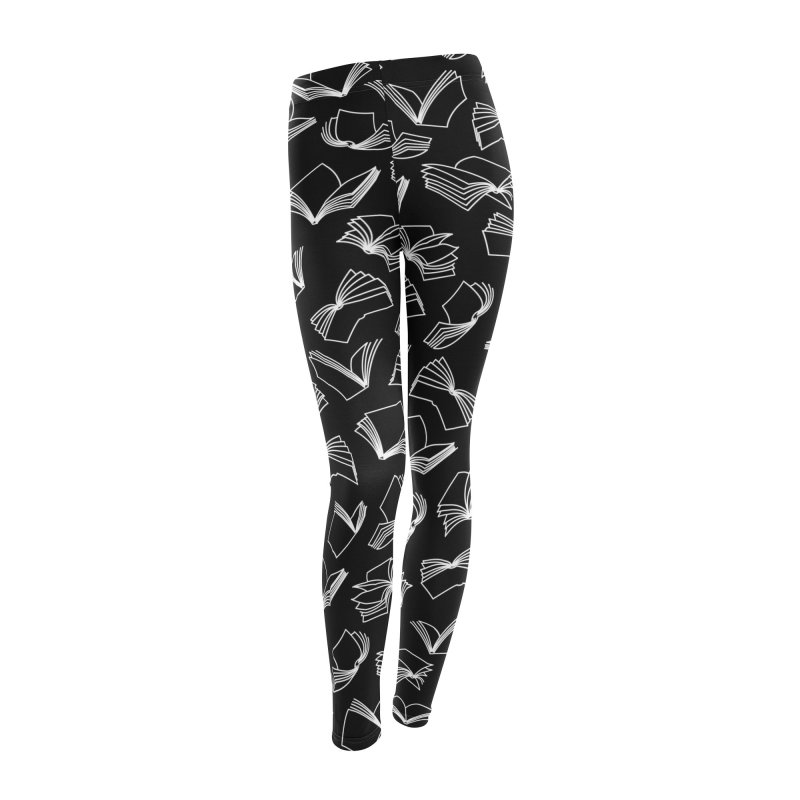 Bookaholic Dreams Women's Leggings Bottoms by Grandio Design Artist Shop