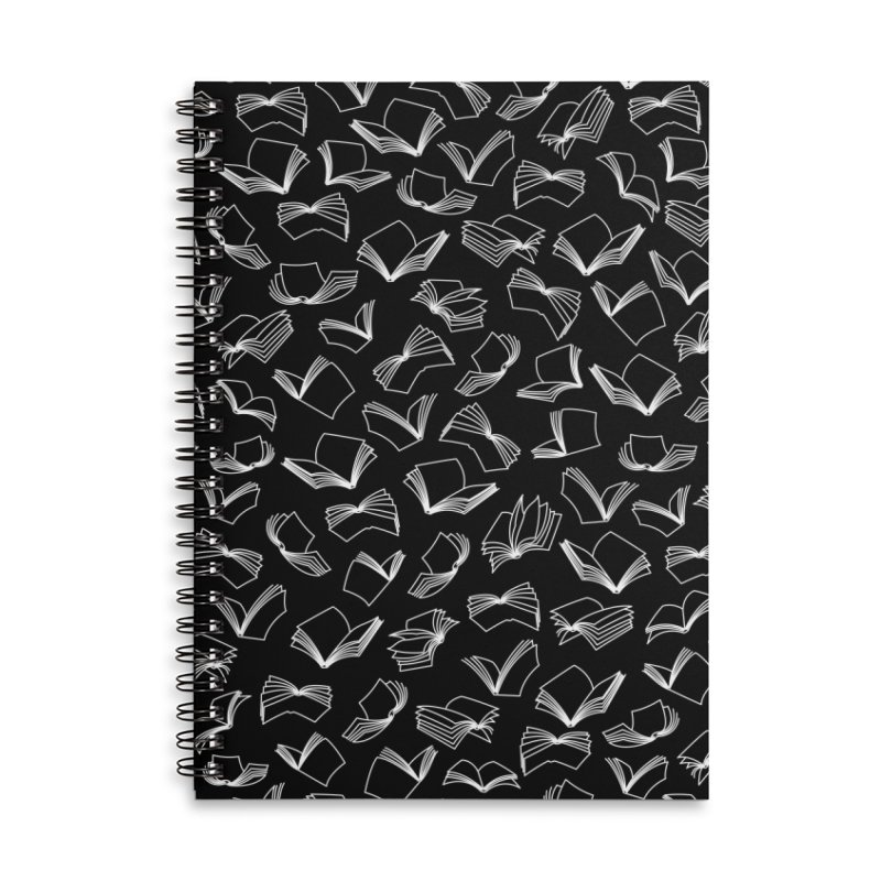 Bookaholic Dreams Accessories Lined Spiral Notebook by Grandio Design Artist Shop