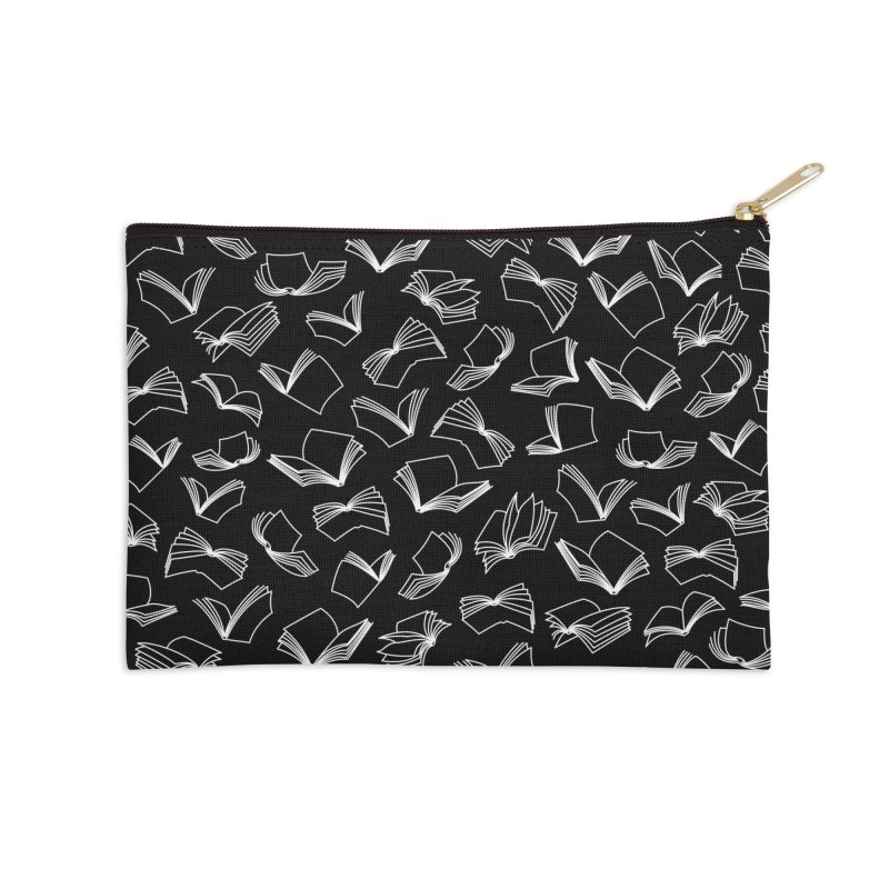 Bookaholic Dreams Accessories Zip Pouch by Grandio Design Artist Shop