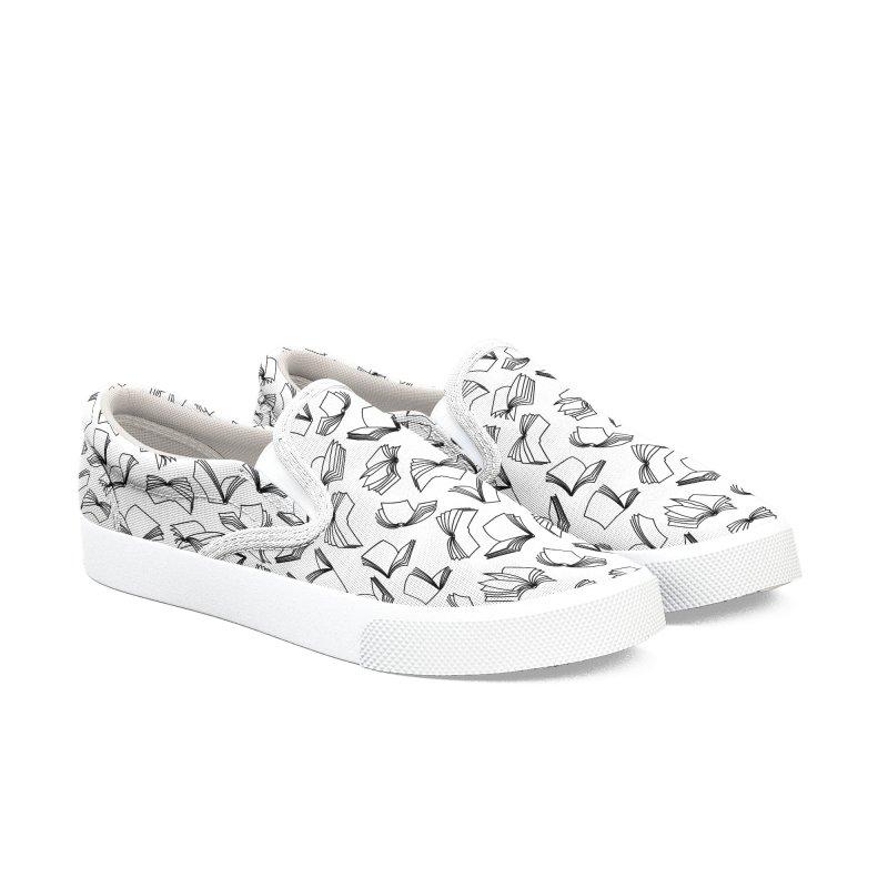 Bookaholic Dreams II Women's Slip-On Shoes by Grandio Design Artist Shop