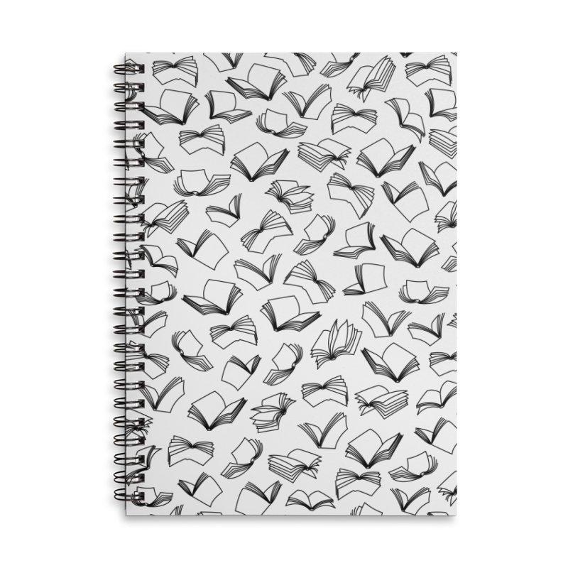 Bookaholic Dreams II Accessories Lined Spiral Notebook by Grandio Design Artist Shop