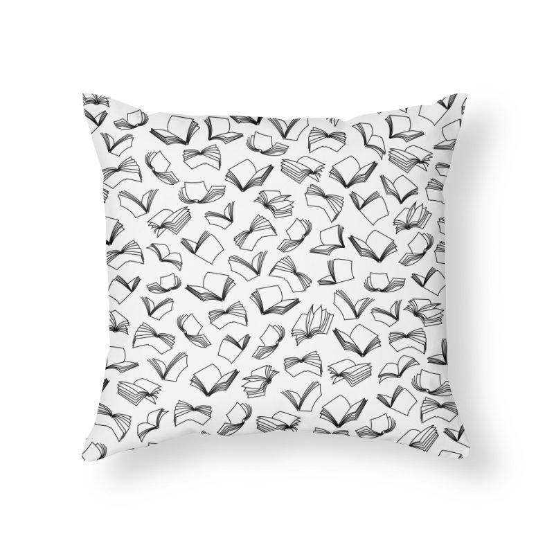Bookaholic Dreams II Home Throw Pillow by Grandio Design Artist Shop