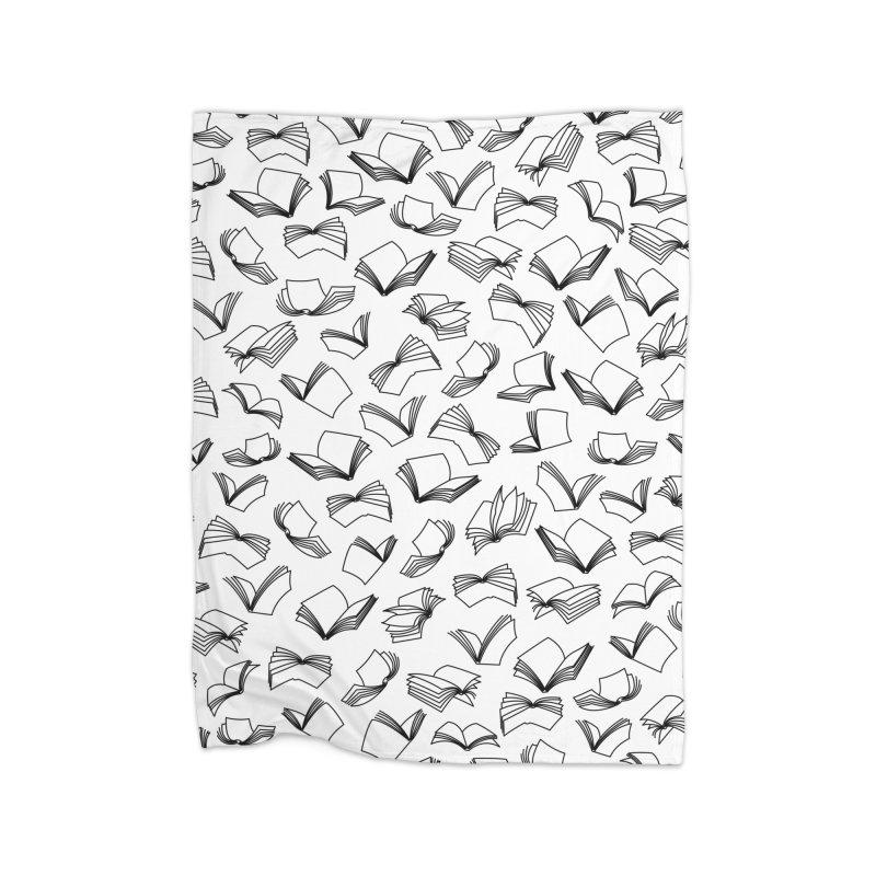 Bookaholic Dreams II Home Fleece Blanket Blanket by Grandio Design Artist Shop